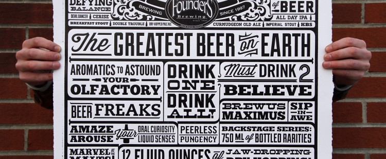 Founders Letterpress Posters