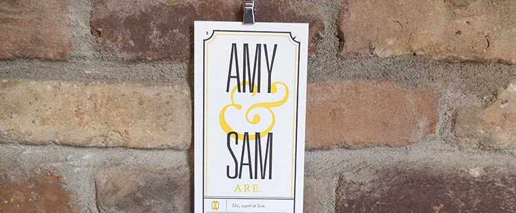 Sam & Amy Letterpress Wedding Invites